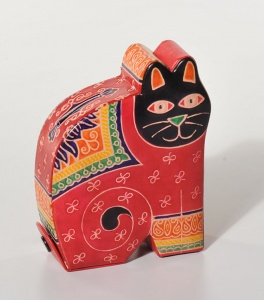 Money box red cat