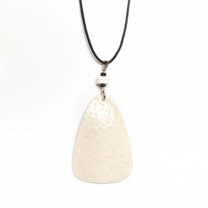 Ostrich pyramid necklace