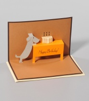 Birthday card pop up dog