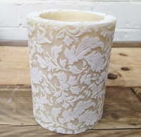 Damask 6'' large pillar candle