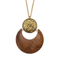 Earth and fire lunar necklace