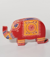 Money box leather elephant