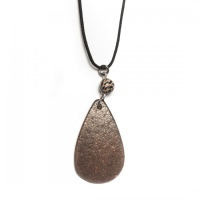 Ostrich tear pendant necklace