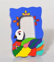 Photo frame duck, colourful