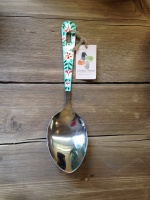 Valentine serving spoon turquoise
