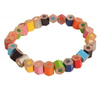 Bracelet recycled crayons