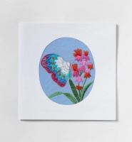 Butterfly on flower card