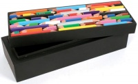 Crayon box made of recycled crayons