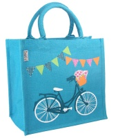 Jute bag square bicycle