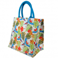 Jute bag tropical forest