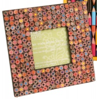 Photo frame recycled crayons, 3x3''