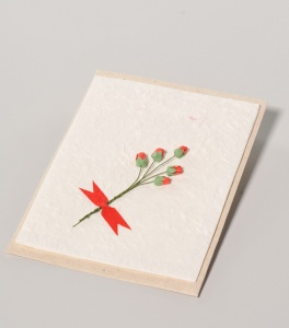 Bouquet of mulberry paper card