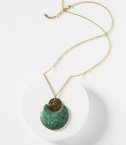Tara stone necklace - crescent