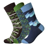 Planet collection box men's socks